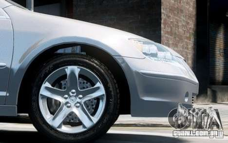 Acura RL 2006 para GTA 4 vista de volta