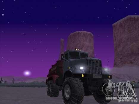 Caminhão de combustível KrAZ-255 para GTA San Andreas