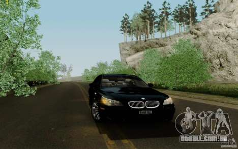 BMW M5 2009 para GTA San Andreas vista interior