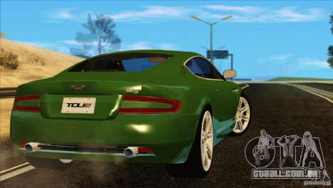 Aston Martin DB9 para GTA San Andreas vista inferior
