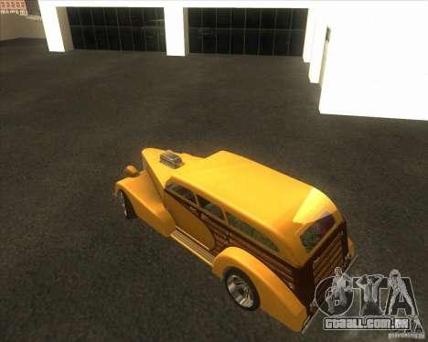 Custom Woody Hot Rod para vista lateral GTA San Andreas