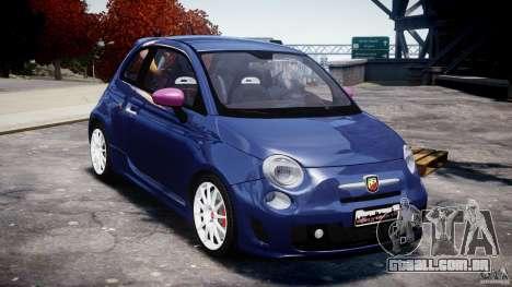 Fiat 500 Abarth SS para GTA 4 vista de volta