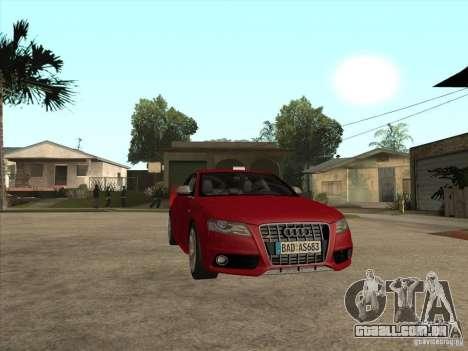 Audi S4 2010 para GTA San Andreas vista traseira