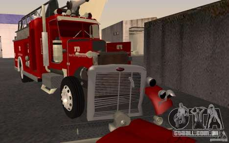 Peterbilt 379 Fire Truck ver.1.0 para vista lateral GTA San Andreas