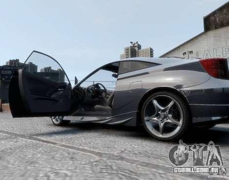 Toyota Celica para GTA 4 traseira esquerda vista