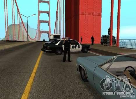 Um homem-bomba na ponte para GTA San Andreas quinto tela