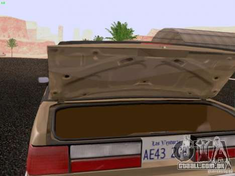 Ford Mustang GT 5.0 Convertible 1987 para vista lateral GTA San Andreas