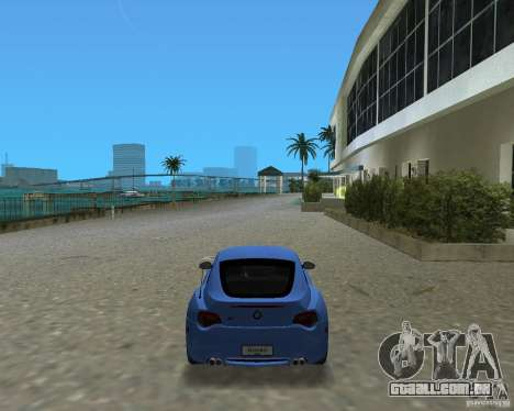 BMW Z4 para GTA Vice City deixou vista