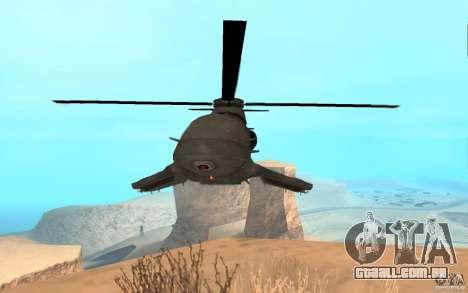 Scout Drone from BO2 para GTA San Andreas traseira esquerda vista