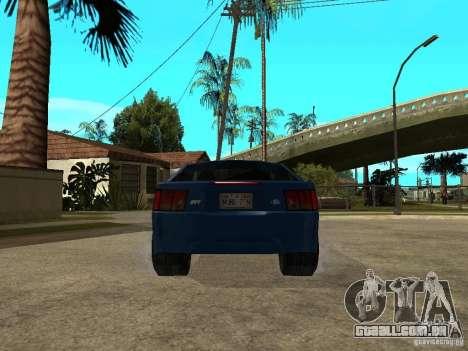Ford Mustang Cobra R Tuneable para GTA San Andreas traseira esquerda vista