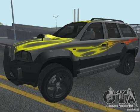 SUV de NFS para GTA San Andreas vista interior