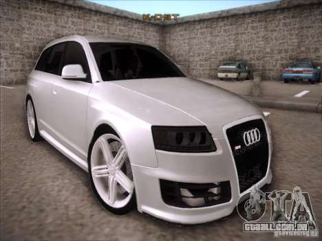 Audi RS6 Avant para GTA San Andreas vista traseira