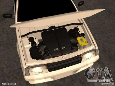 VAZ 2109 Opera Turbo para GTA San Andreas vista superior