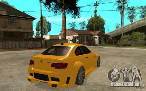 BMW M3 E92 para GTA San Andreas vista direita