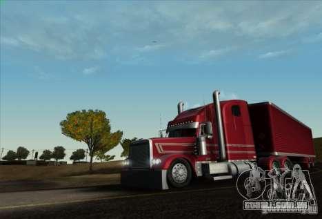Trailer de Freightliner clássico XL Custom para GTA San Andreas traseira esquerda vista