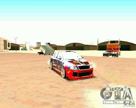 Skoda Octavia III Tuning para GTA San Andreas esquerda vista