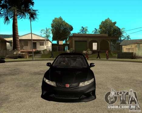 2009 Honda Civic Type R Mugen Tuning para GTA San Andreas vista traseira