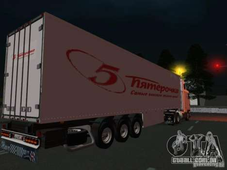 International Navistar 9800 para GTA San Andreas vista direita