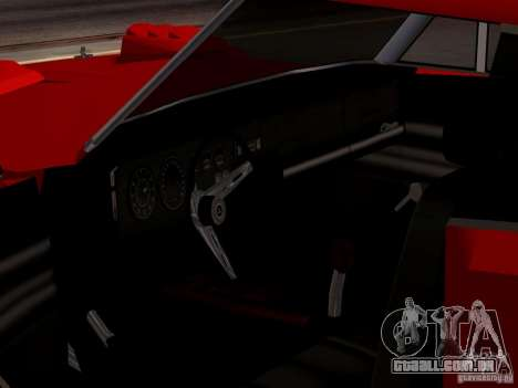 Dodge Charger Daytona 440 para GTA San Andreas vista traseira