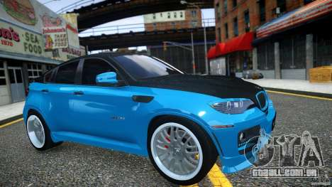 BMW X 6 Hamann para GTA 4 vista interior
