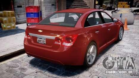 Chevrolet Cruze para GTA 4 vista direita
