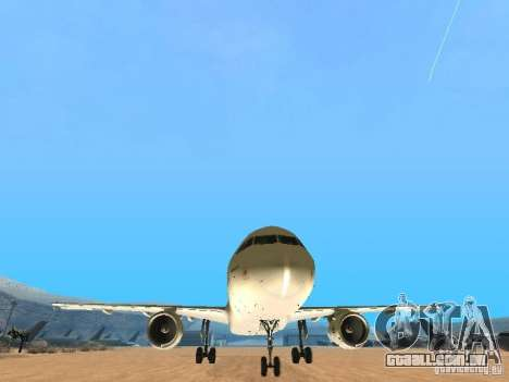 Airbus A320 Air France para GTA San Andreas vista traseira