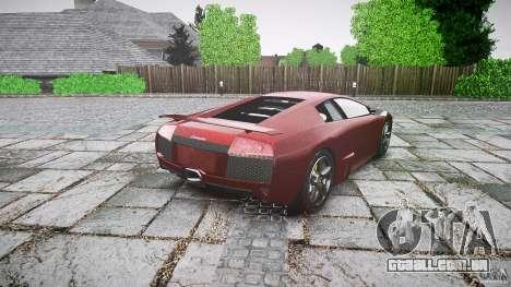 Lamborghini Murcielago v1.0b para GTA 4 traseira esquerda vista