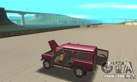 Land Rover Defender 110SW para GTA San Andreas