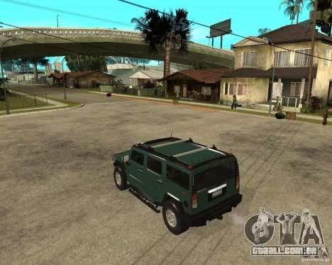 AMG H2 HUMMER SUV para GTA San Andreas esquerda vista