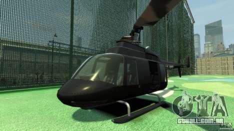 Black U.S. ARMY Helicopter v0.2 para GTA 4 esquerda vista