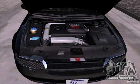 Audi S4 Light Tuning para GTA San Andreas vista traseira