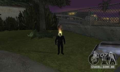 Motoqueiro Fantasma para GTA San Andreas por diante tela