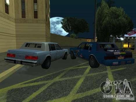GreenWood Racer para GTA San Andreas traseira esquerda vista