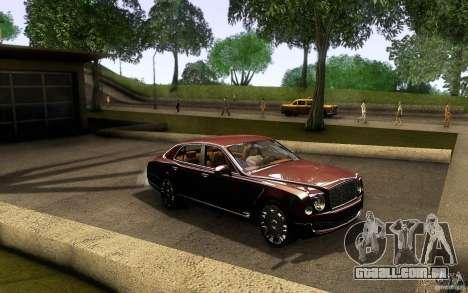 Bentley Mulsanne 2010 v1.0 para GTA San Andreas vista interior