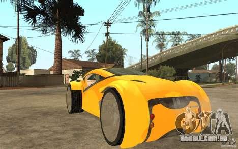 Lexus Concept 2045 para GTA San Andreas traseira esquerda vista
