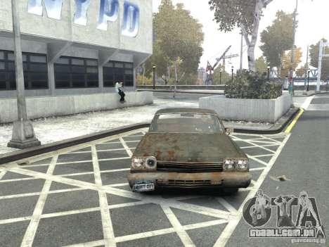 Dodge Monaco 1974 Rusty para GTA 4 vista de volta