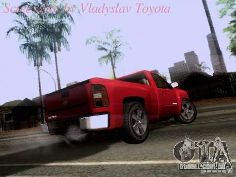 Chevrolet Cheyenne Single Cab para GTA San Andreas vista direita