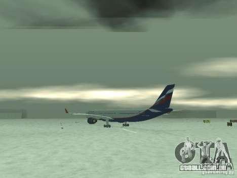 O Airbus A330-300 Aeroflot para GTA San Andreas vista direita