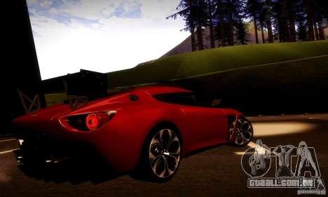 Aston Martin V12 Zagato Final para vista lateral GTA San Andreas