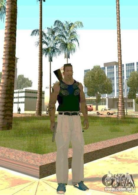 Armas no corpo para GTA San Andreas segunda tela