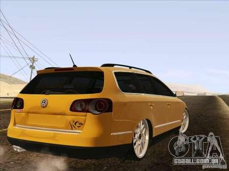 Volkswagen Passat B6 Variant para GTA San Andreas esquerda vista