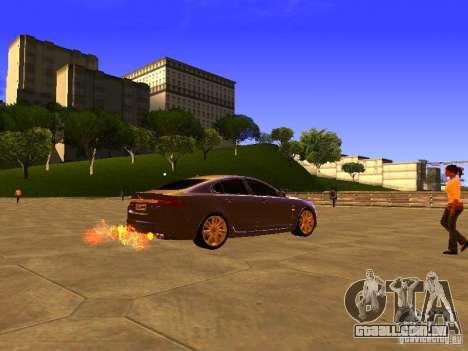 Jaguar XFR 2011 para GTA San Andreas traseira esquerda vista