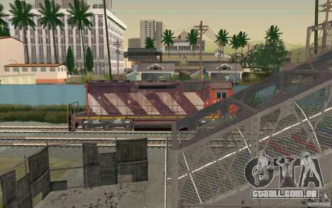 CN SD40 ZEBRA STRIPES para GTA San Andreas interior