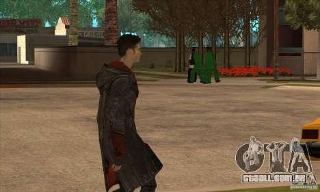 Dante de Devil May Cry para GTA San Andreas terceira tela