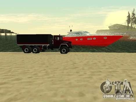 KrAZ 260 para GTA San Andreas traseira esquerda vista
