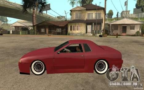 Elegy Modified para GTA San Andreas esquerda vista