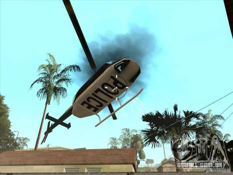 O script CLEO: metralhadora no GTA San Andreas para GTA San Andreas por diante tela