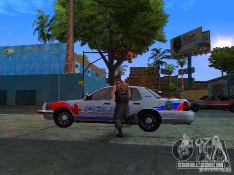 Ford Crown Victoria Police Patrol para GTA San Andreas traseira esquerda vista