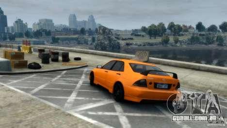Lexus IS300 para GTA 4 vista direita