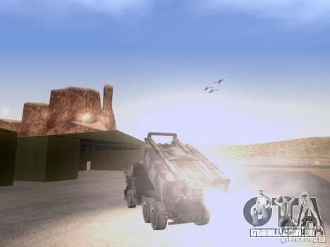 M142 HIMARS Artillery para GTA San Andreas vista traseira